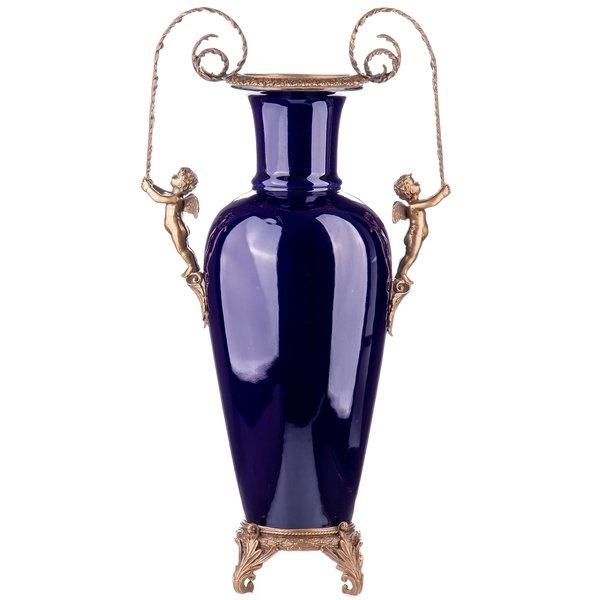 Decotrends  Porcelain with bronze vase angels