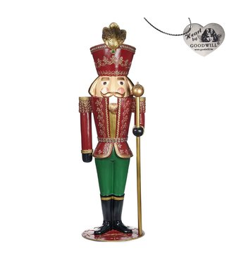 Good Will  Santa and Nutcrackers  bourgondie  179cm