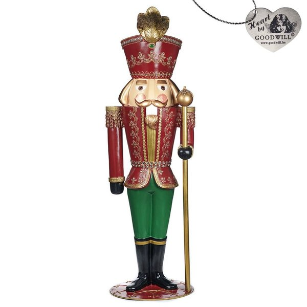Good Will  Santa and Nutcrackers  bourgondie  179cm