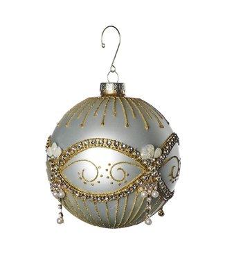 Good Will  Christmas ball glass jewel pearl 12 cm