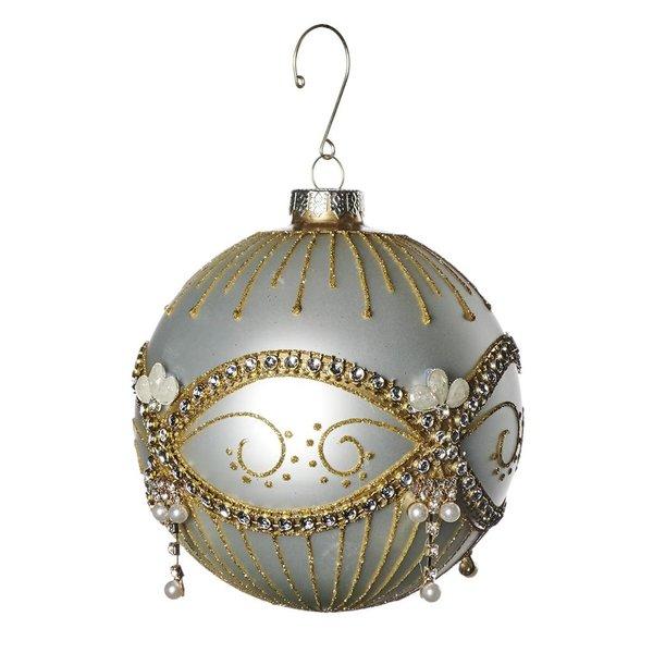 Good Will  Kerst bal glas juweel parel 12 cm