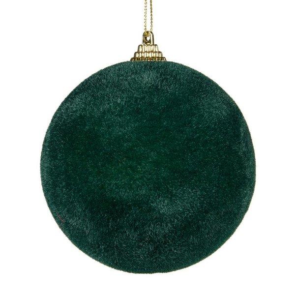 Good Will  Boule de Noël velours floqué vert foncé