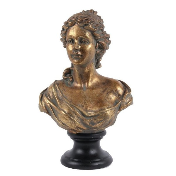Dutch & Style Bust lady 41 cm gold  Dutch Style