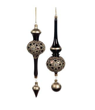 Good Will  Set of art deco hanging ornaments 28 cm