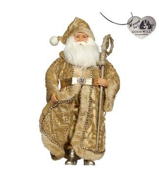 Good Will  Kerstman  Fabric  met staf