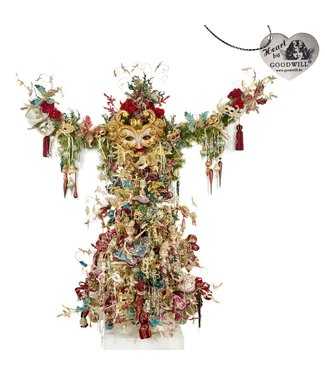 Good Will  Completely decorated Christmas tree decoration from selections theme CLassic Masquerade