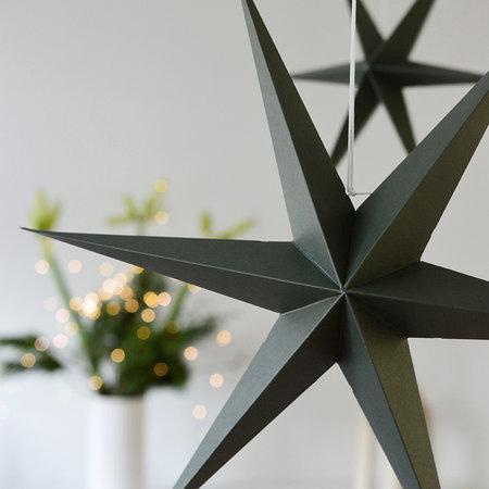 DELIGHT DEPARTMENT Étoiles en papier vert olive