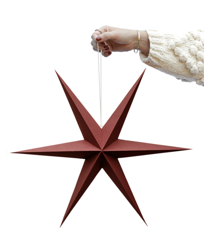 DELIGHT DEPARTMENT  Rusty Red Paper Stars