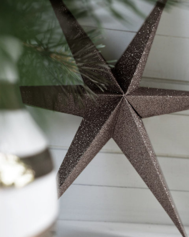 DELIGHT DEPARTMENT  Brown   Paper Sparkle Stars
