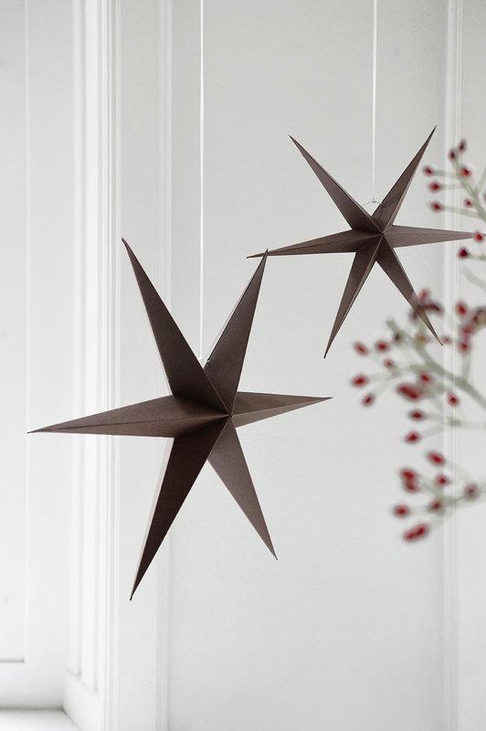 DELIGHT DEPARTMENT  Brown   Paper  Stars