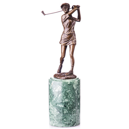 Bronzen figuur golfer