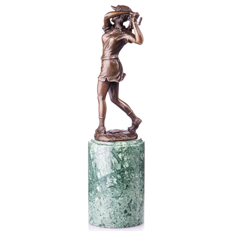 Bronze figure golfer