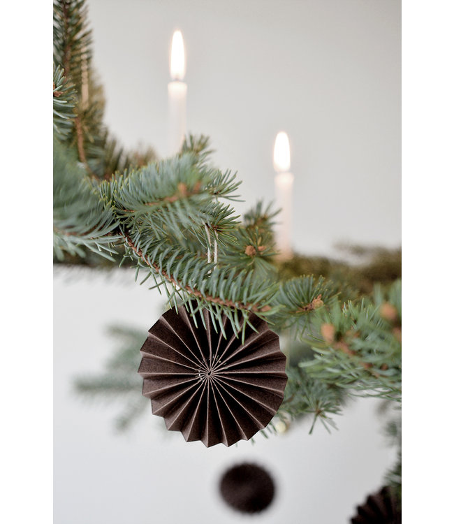 DELIGHT DEPARTMENT 10 BROWN PAPER ORNAMENTS