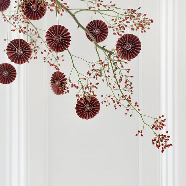DELIGHT DEPARTMENT 10-red paper ornaments