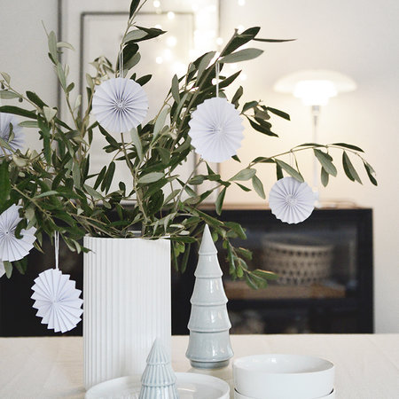 DELIGHT DEPARTMENT 10-white  paper ornament