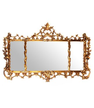 Mirror with polyresin frame
