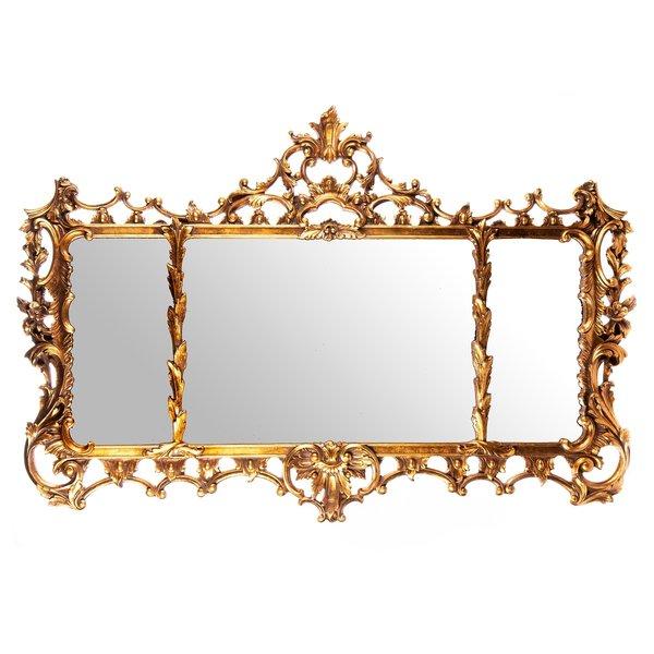 Spiegel met frame van polyresin