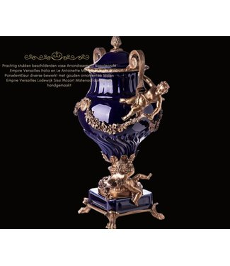 Baroque Porcelain bronze vase with lids with angels
