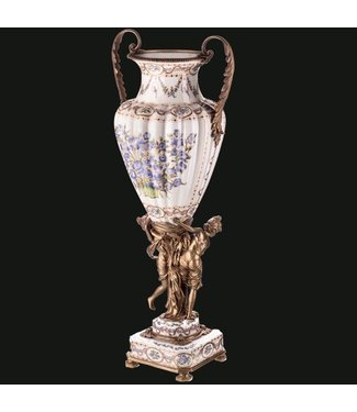 Decotrends  Porcelain with bronze vase with women