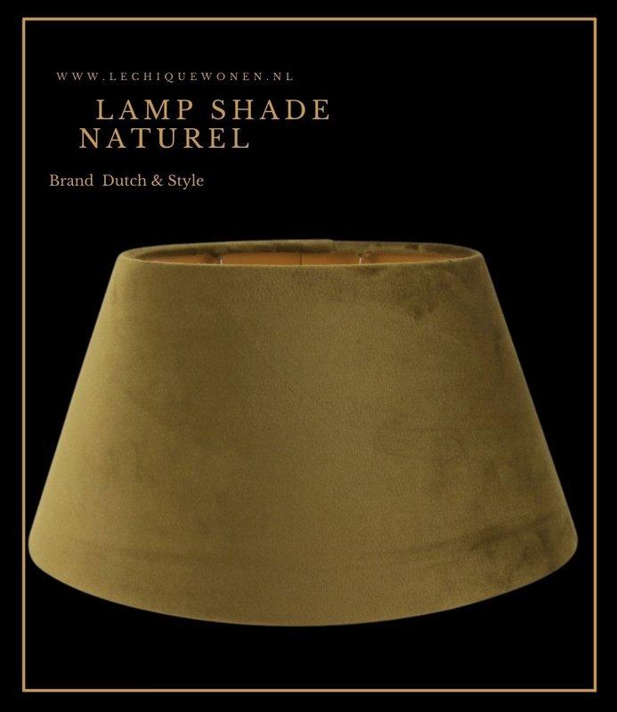 Dutch & Style Lampshade around  green velvet