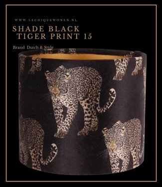 Dutch & Style Lampenkap Jungle  15 cm black leopard print