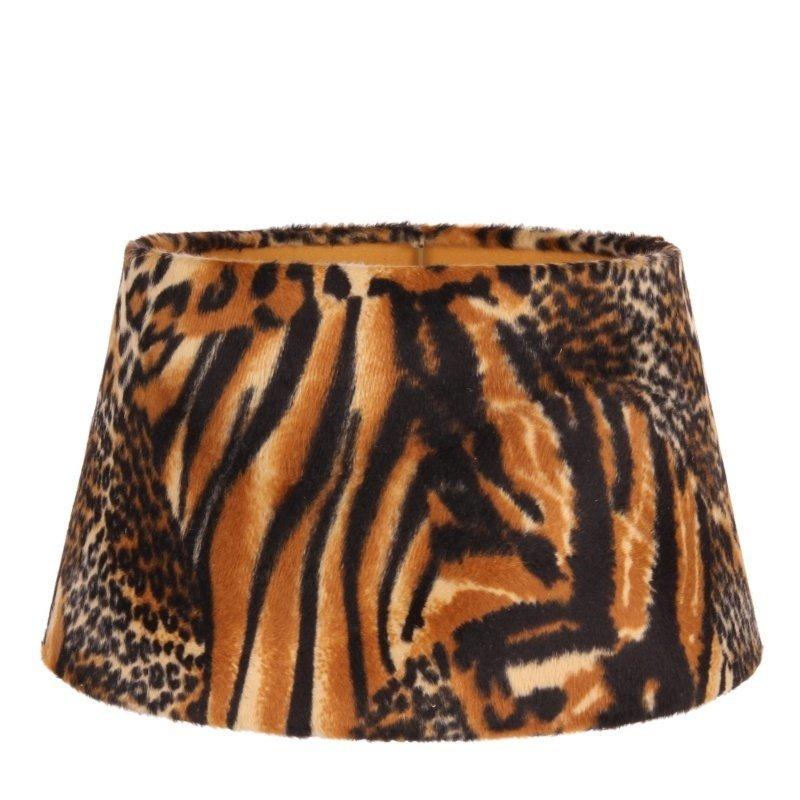 Dutch & Style Lampshade jungle print Brown 25 cm