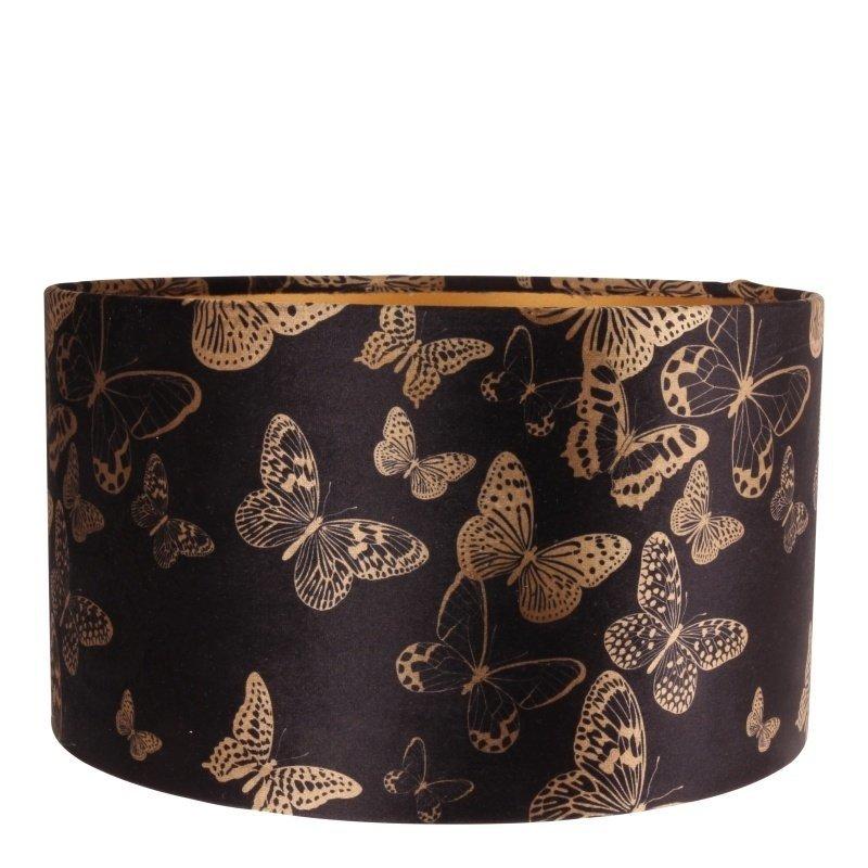 Dutch & Style Lampenkap jungle   vlinders cylinder 20 cm