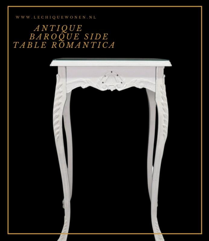 LC Barok bijzettafel wit romantica
