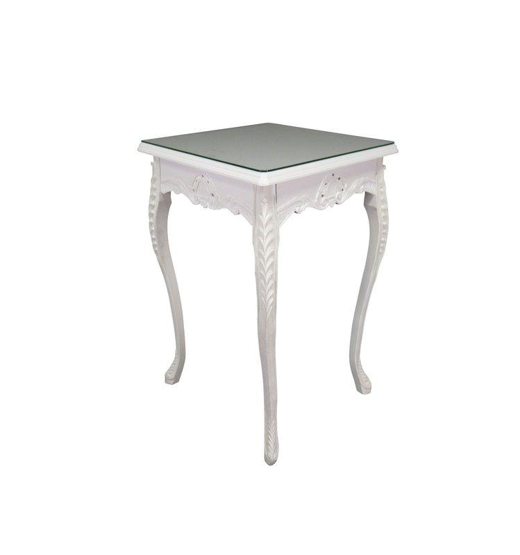 LC Baroque side table white romantica
