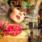 Wandkraft  Eternal Connection mixed media met dames gezicht
