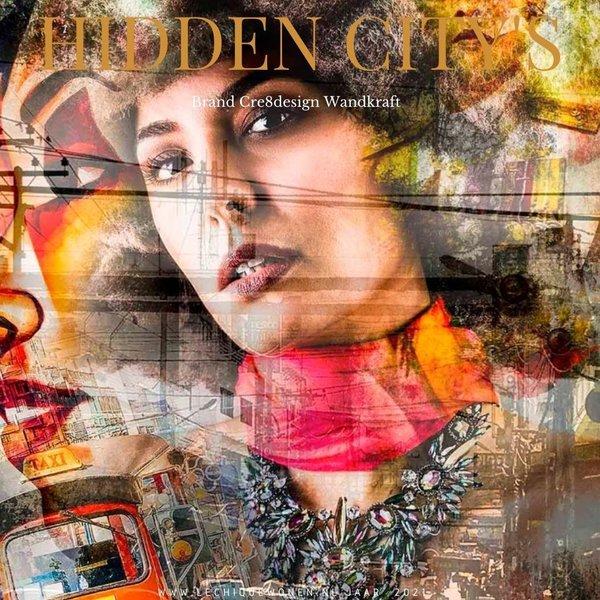 Wandkraft  Hidden City's glas schilderij