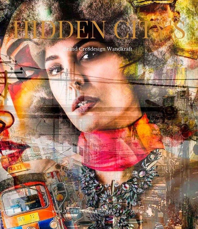 Wandkraft  Hidden City's glass painting