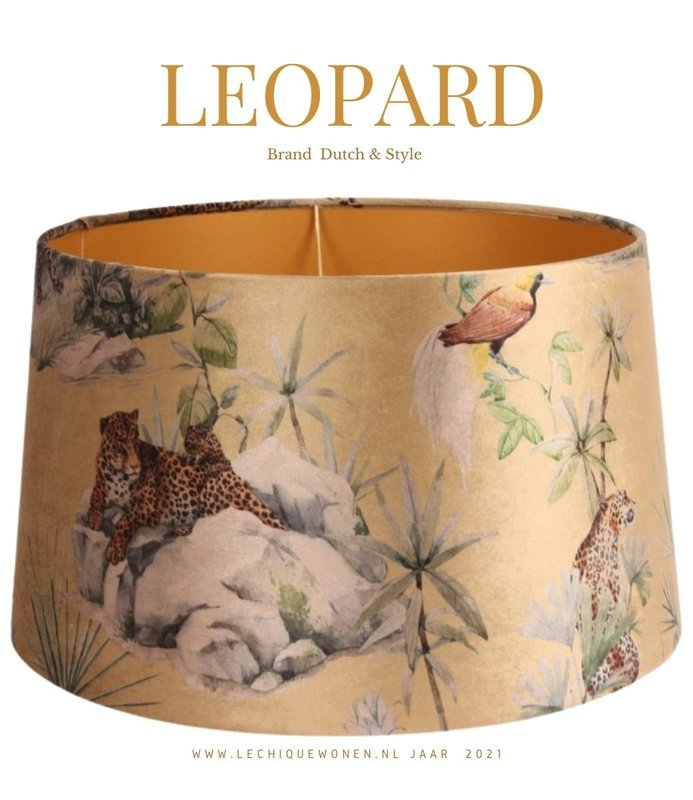 Dutch & Style Lampshade Leopard Gold  N/A