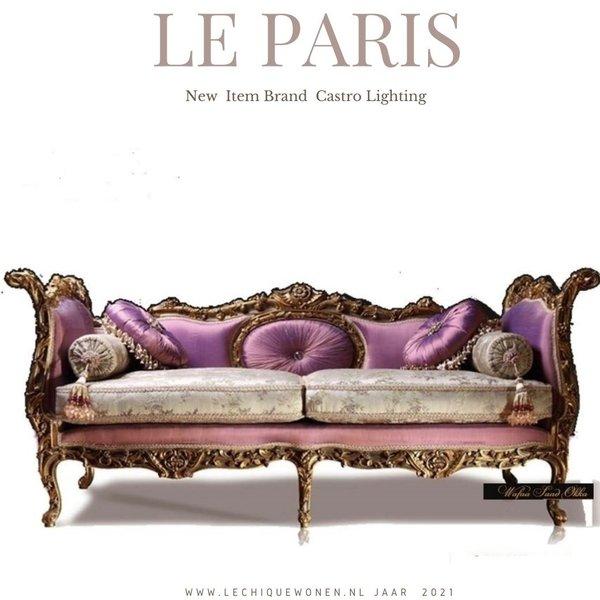 Wafaa Okka  Baroque couch gold purple