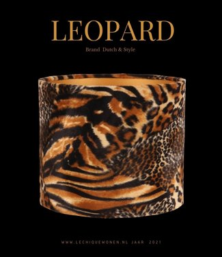 Dutch & Style Lampshade Jungle 20cm black leopard print