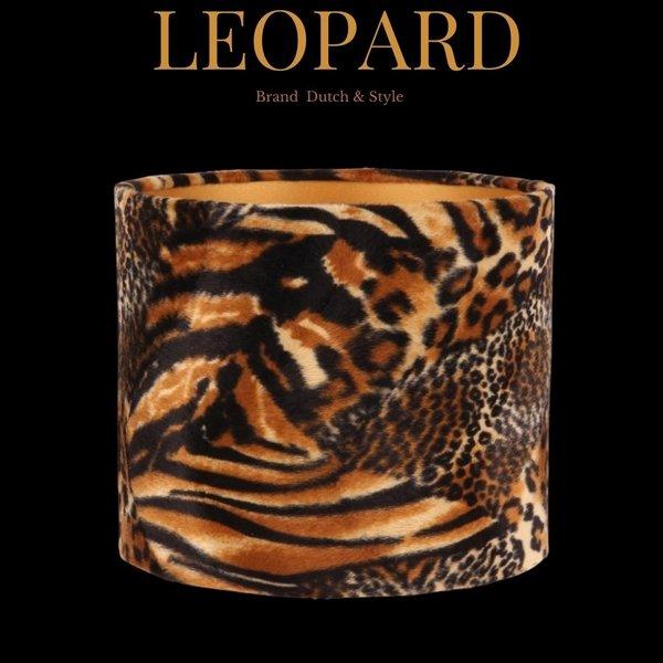 Dutch & Style Lampenkap Jungle  20cm black leopard print