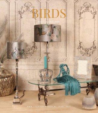 Dutch & Style Abat-jour cylindrique Oiseaux 20 cm