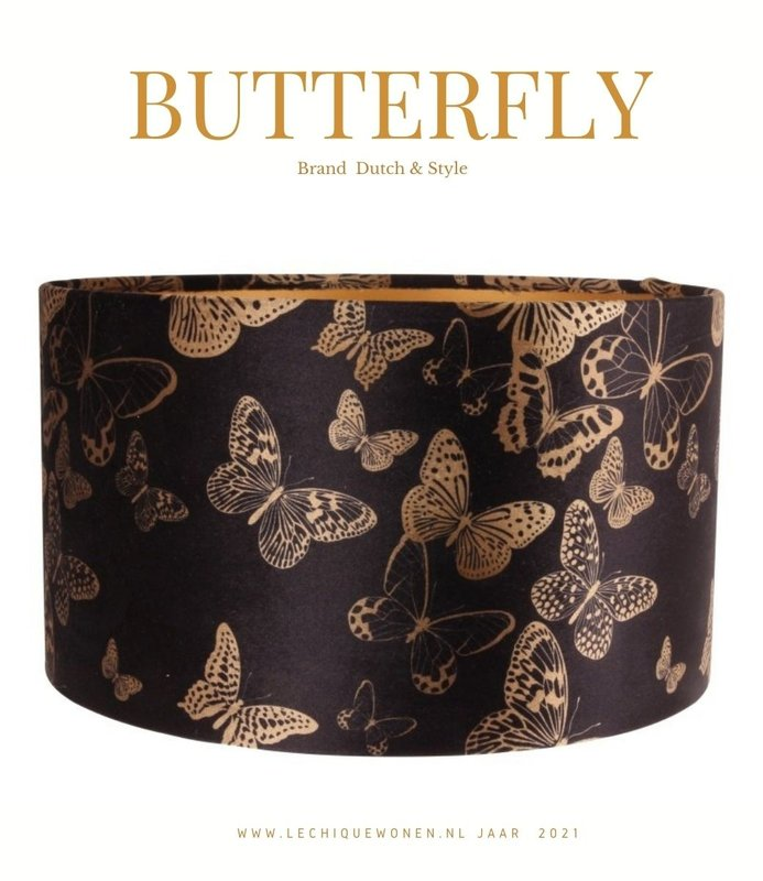 Dutch & Style Lampshade jungle butterflys      cylinder 20 cm
