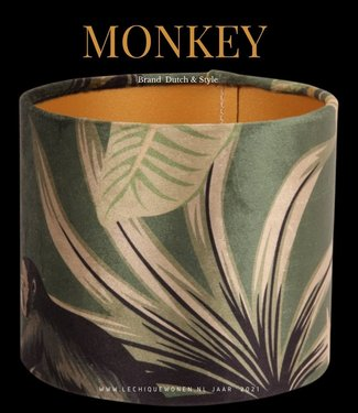 Dutch & Style Lampshade cylinder monkey 15 cm