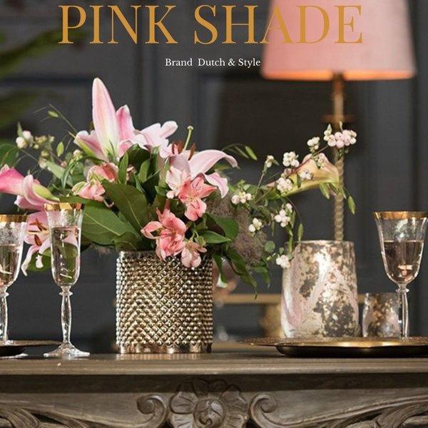 Dutch & Style Lampenkap Roze  rond 50 cm