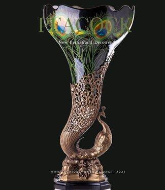 Decotrends  Vase paon en bronze