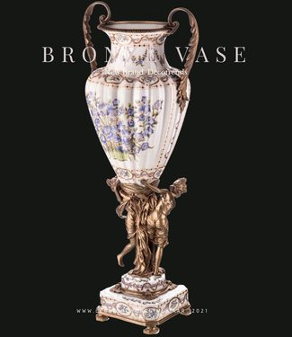 Decotrends  Porcelaine avec vase en bronze avec des femmes