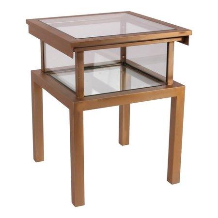 Dutch & Style Table d'appoint carrée Antigua or