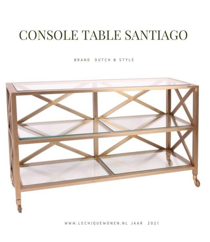 Dutch & Style Console tafel Santiago goud