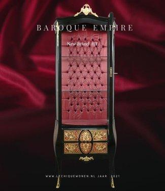 Barok Vitrine Kast Empire  1 -Deurs