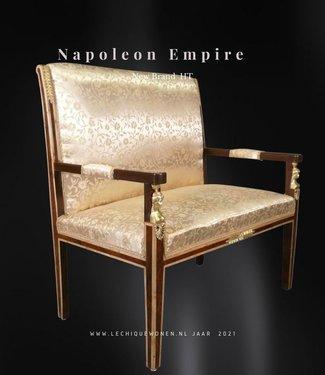 Baroque Sofa Deluxe mahonie -Gold
