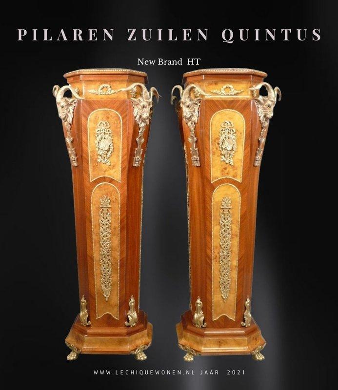 Royal Decoration   Barok Bronzen Pilaren Zuilen Quintus