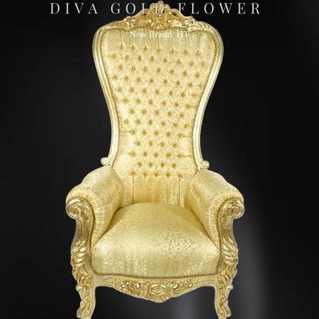 LC Barok  tronen model  Diva goud bloem