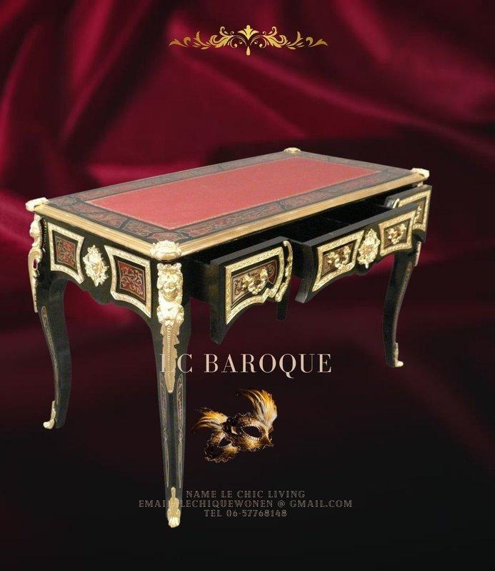LC Bureau Empire Boulle bronze dore
