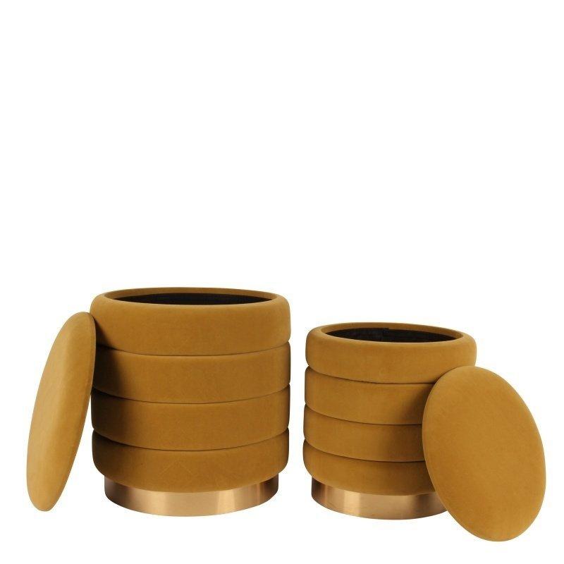 Dutch & Style Set Poufs Monroe Gold